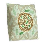 Celtic Nature Yin Yang Burlap Throw Pillow
