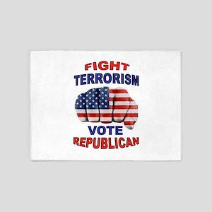 TERRORISM 5'x7'Area Rug