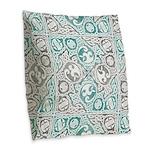 Celtic Knotwork Puzzle Square Burlap Throw Pillow