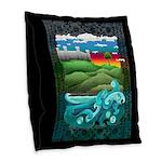 Celtic Castle Tor Burlap Throw Pillow