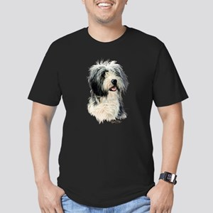 Bearded Collie Men's Fitted T-Shirt (dark)