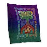 Celtic Tree of Life Burlap Throw Pillow