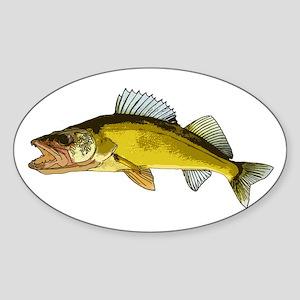 walleye art Sticker