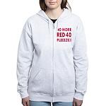 No More Red 40 Women's Zip Hoodie