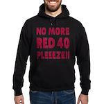 No More Red 40 Hoodie (dark)