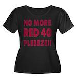 No More Red 40 Women's Plus Size Scoop Neck Dark T