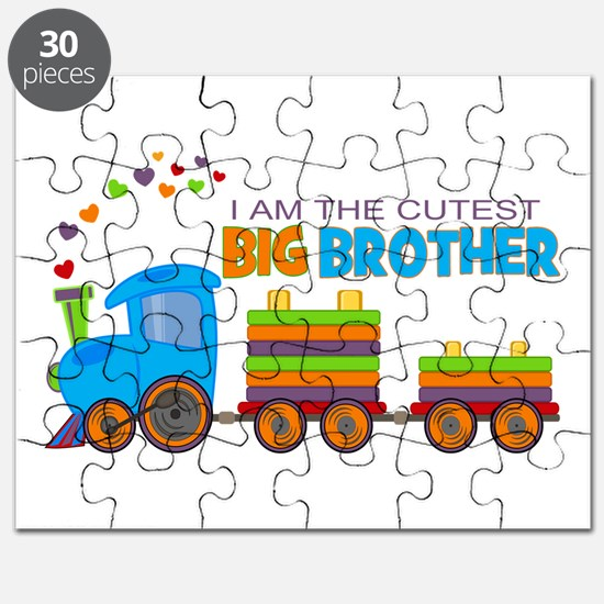 I am the Cutest Big Brother - Train Puzzle