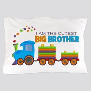 I am the Cutest Big Brother - Train Pillow Case