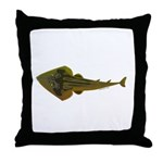 Guitarfish Ray fish Throw Pillow