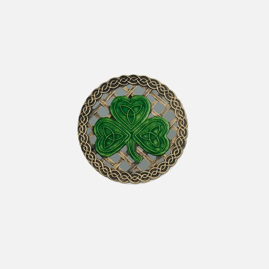Shamrock And Celtic Knots Mini Button