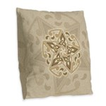 Celtic Star Burlap Throw Pillow