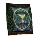 Celtic Sun-Moon Hourglass Burlap Throw Pillow