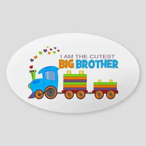 I am the Cutest Big Brother - Train Sticker