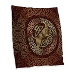 Celtic Dog Burlap Throw Pillow