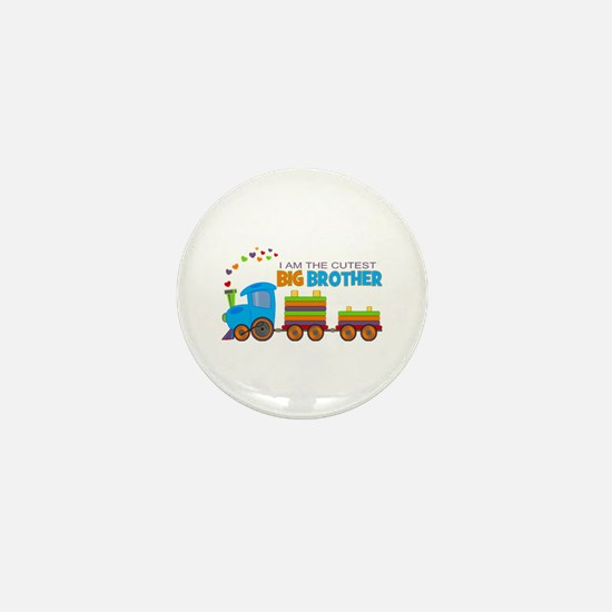 I am the Cutest Big Brother - Train Mini Button