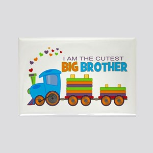 I am the Cutest Big Brother - Train Rectangle Magn