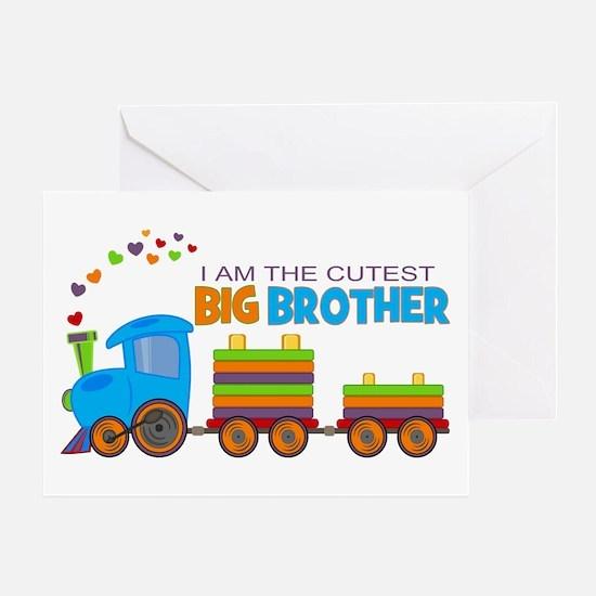 I am the Cutest Big Brother - Train Greeting Card