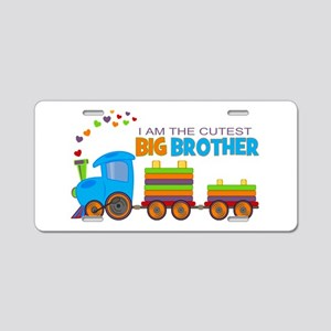 I am the Cutest Big Brother - Train Aluminum Licen