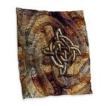 Celtic Rock Knot Burlap Throw Pillow