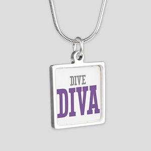 Dive DIVA Silver Square Necklace