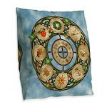 Celtic Wheel of the Year Burlap Throw Pillow