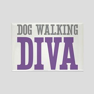Dog Walking DIVA Rectangle Magnet