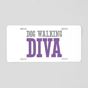 Dog Walking DIVA Aluminum License Plate