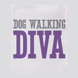 Dog Walking DIVA Throw Blanket