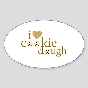 I Love Cookie Dough Oval Sticker