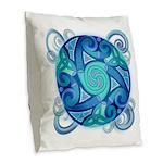 Celtic Planet Burlap Throw Pillow