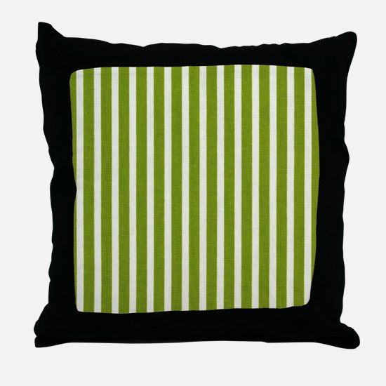 Chartreuse Skinny Stripes Throw Pillow