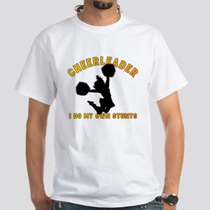 Funny Cheerleader White T-Shirt