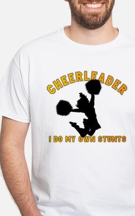 Funny Cheerleader White T-Shirt