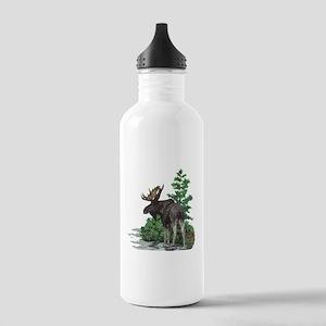 Bull moose art Stainless Water Bottle 1.0L