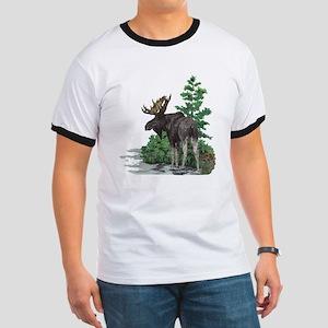 Bull moose art Ringer T