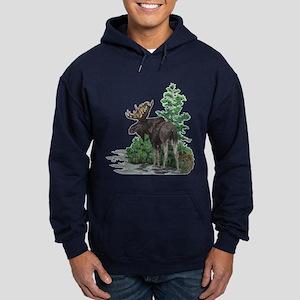 Bull moose art Hoodie (dark)
