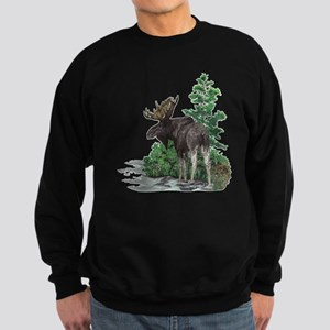 Bull moose art Sweatshirt (dark)