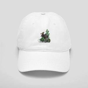 Bull moose art Cap