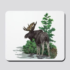 Bull moose art Mousepad