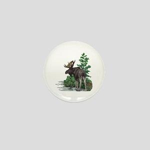 Bull moose art Mini Button
