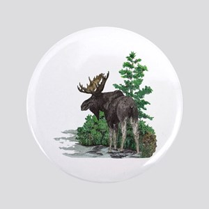 "Bull moose art 3.5"" Button"