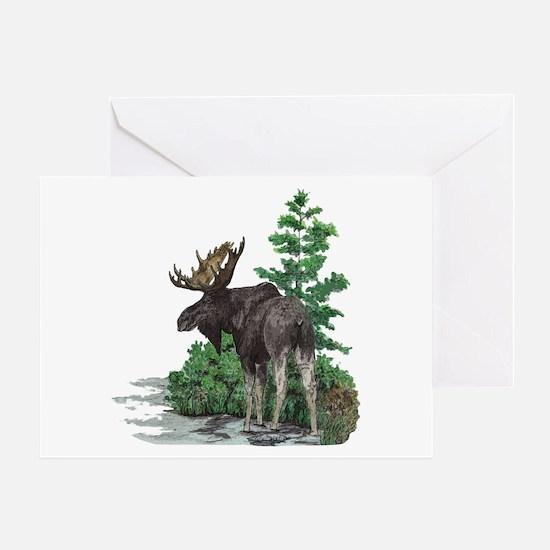 Bull moose art Greeting Card