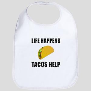 Life Happens Tacos Help Baby Bib