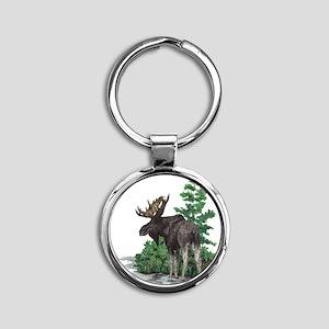 Bull moose art Keychains