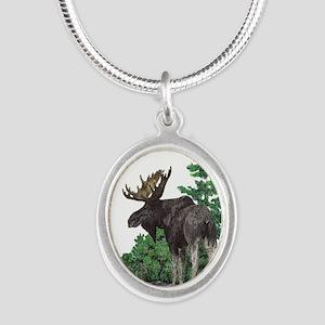 Bull moose art Necklaces