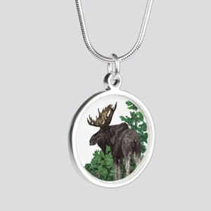 Bull moose art Necklaces