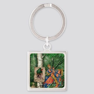 Cairn Terrier Robin Hood Square Keychain