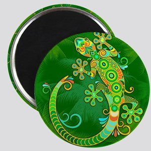 Gecko Lizard Tattoo Style Magnets