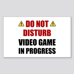 Do Not Disturb Video Game Sticker