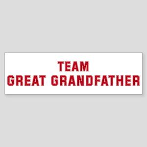 Team Great Grandfather Bumper Sticker